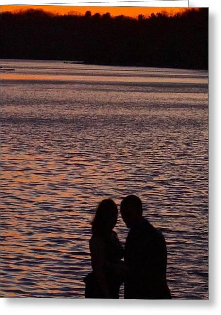 Fed Greeting Cards - Romance at Lake Harmony Poconos Greeting Card by Blair Seitz