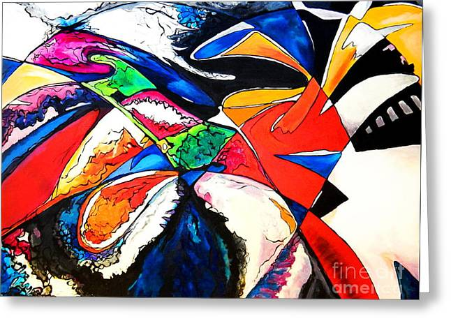 Abstract Expressionist Greeting Cards - Romance Greeting Card by Expressionistar Priscilla-Batzell