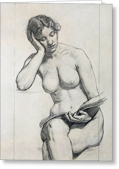 Kenyon Greeting Cards - Romance. Nude Study Greeting Card by Kenyon Cox
