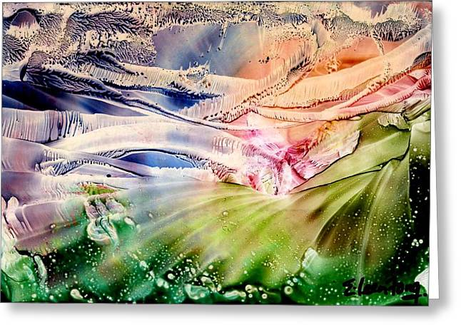 Bubbly Paintings Greeting Cards - Romancing with Winter Greeting Card by Eileen  Fong