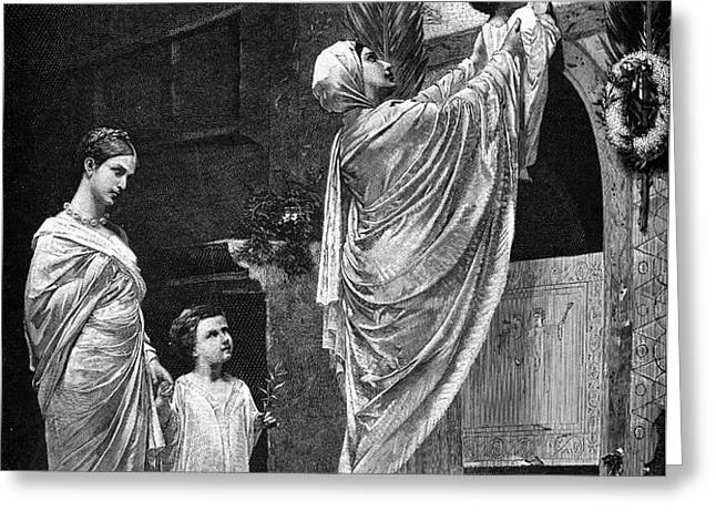 ROME: CHRISTIAN WIDOW Greeting Card by Granger