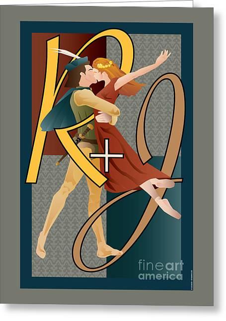 Romance Renaissance Greeting Cards - Romeo and Juliet ballet Greeting Card by Joe Barsin