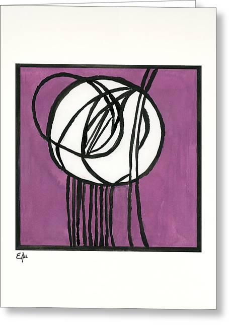 Rennie Greeting Cards - Rosebud Glass Panel by Charles Rennie Mackintosh - Watercolor Pa Greeting Card by Eugenia Alvarez
