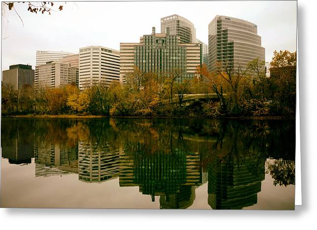 Arlington Greeting Cards - Rossalyn in Autumn - Arlington Virginia Greeting Card by Discol