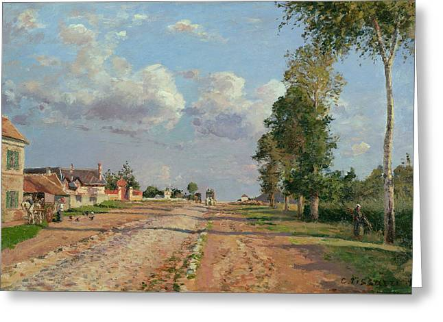 Route De Versailles Rocquencourt Greeting Card by Camille Pissarro