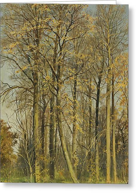 Rowan Trees In Autumn Greeting Card by Ivan Shishkin