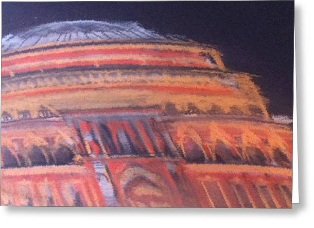 Concerts Pastels Greeting Cards - Royal Albert Hall Greeting Card by Michelle Deyna-Hayward