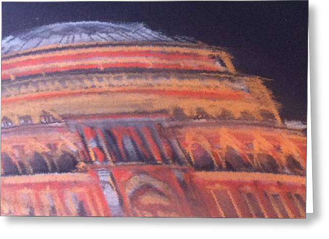 Orchestra Pastels Greeting Cards - Royal Albert Hall Greeting Card by Michelle Deyna-Hayward