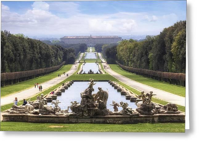 Royal Palace Of Caserta Greeting Card by Joana Kruse