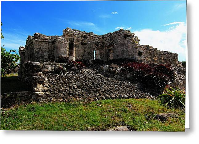 Civilization Greeting Cards - Ruins of Tulum Greeting Card by Robert  McKinstry