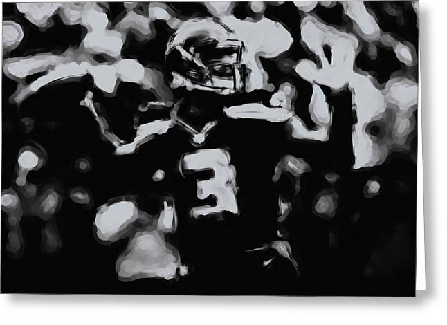 Carrington Greeting Cards - Russell Wilson Smooth Delivery Greeting Card by Brian Reaves