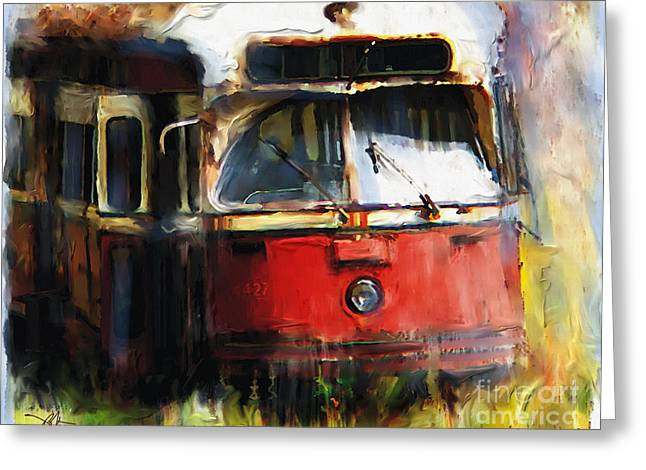 Electric Car Greeting Cards - Rust In Peace Greeting Card by Bob Salo