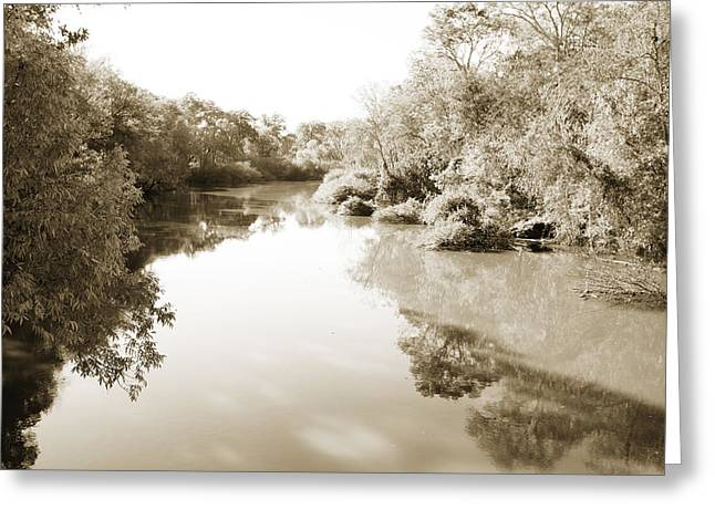 Sabine River Near Big Sandy Texas Photograph Fine Art Print 4106 Greeting Card by M K  Miller