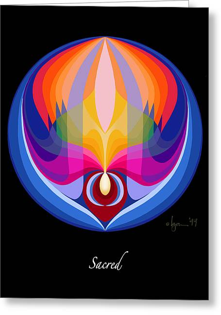 Sacred Paintings Greeting Cards - Sacred Greeting Card by Angela Treat Lyon
