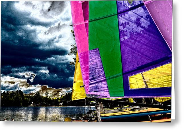 Docked Sailboat Greeting Cards - Sailing After the Storm II Greeting Card by David Patterson