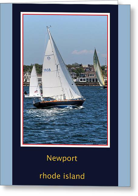 Sailboat Images Greeting Cards - Sailing Newport Greeting Card by Tom Prendergast