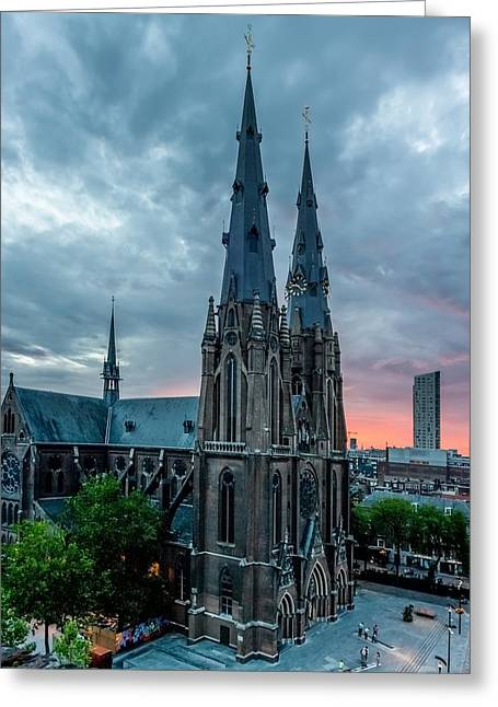 Gathering Greeting Cards - Saint Catherina Church in Eindhoven Greeting Card by Semmick Photo