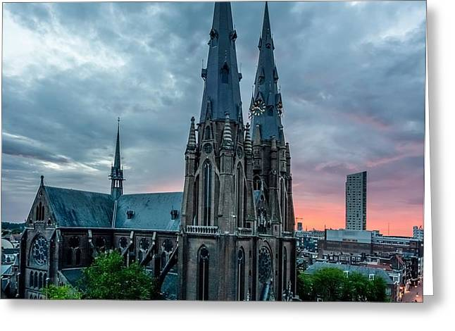 Saint Catherina Church in Eindhoven Greeting Card by Semmick Photo