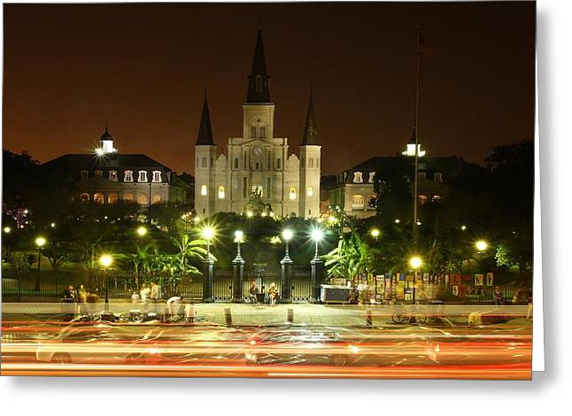 St. Louis Cathedral Greeting Cards - Saint Louis Cathedral in New Orleans Greeting Card by Jetson Nguyen