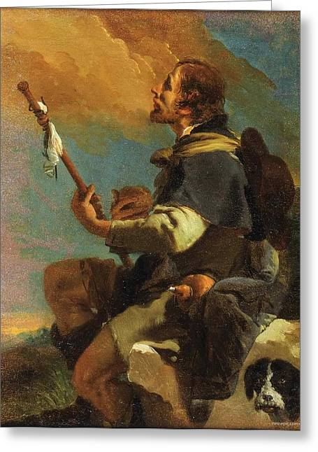 Giovanni Battista Tiepolo Greeting Cards - Saint Roch Greeting Card by Celestial Images