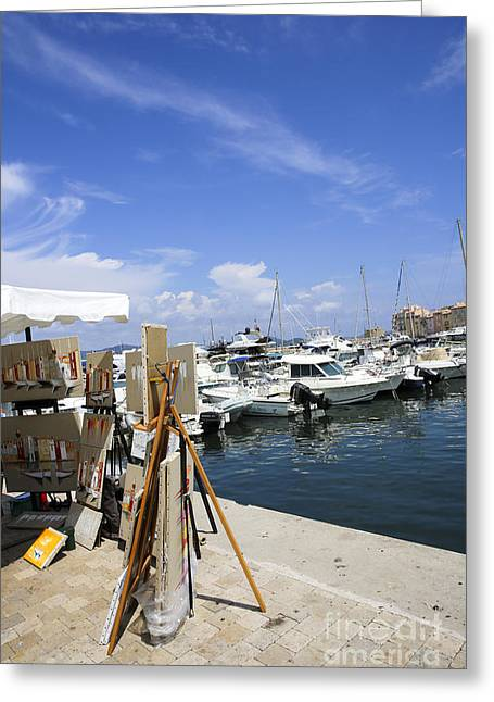 Saint-tropez, Yacht Club And Marina  Greeting Card by Oren Shalev