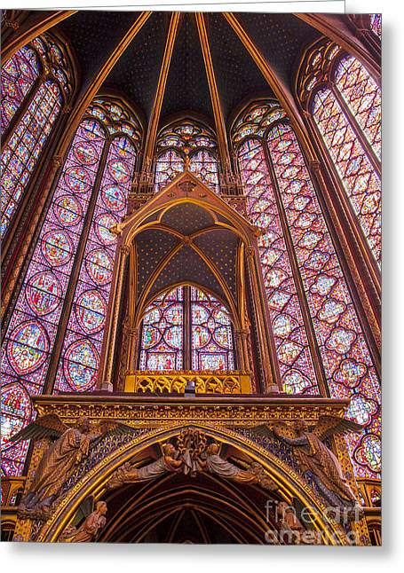 Alter Greeting Cards - Sainte Chapelle Greeting Card by Brian Jannsen