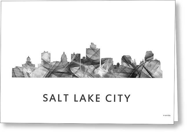 Watson Lake Greeting Cards - Salt Lake City Utah Skyline Greeting Card by Marlene Watson