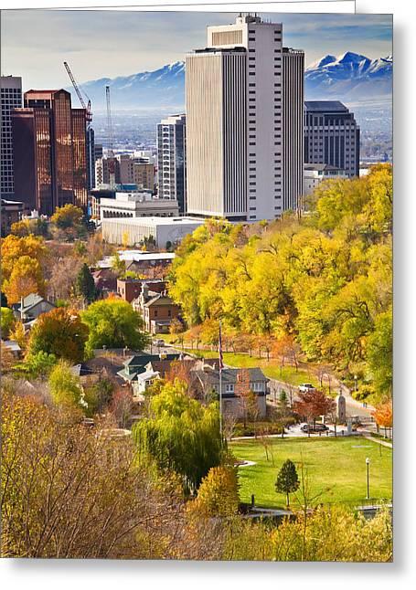 Salt Lake City Utah Greeting Card by Utah Images