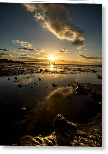 Moss Greeting Cards - Saltburn Greeting Card by Dave Hudspeth