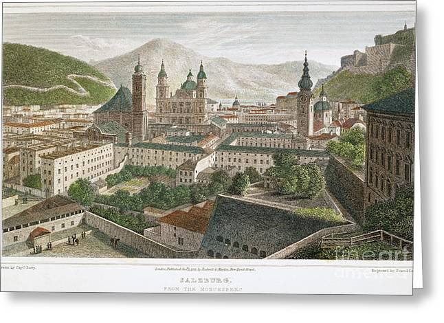 1823 Greeting Cards - Salzburg, Austria, 1823 Greeting Card by Granger
