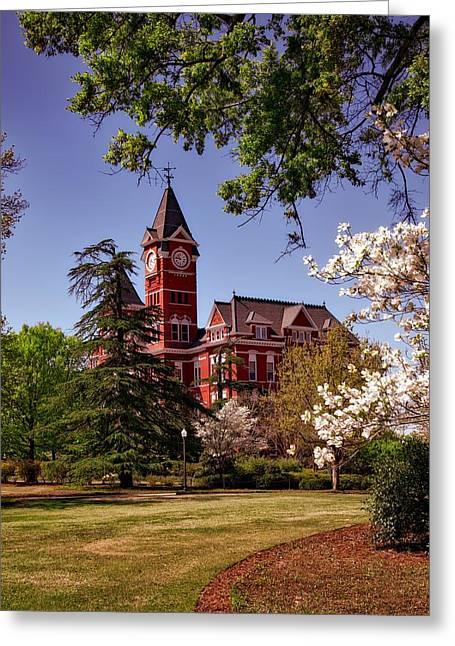 Samford Hall - Auburn University Greeting Card by Mountain Dreams