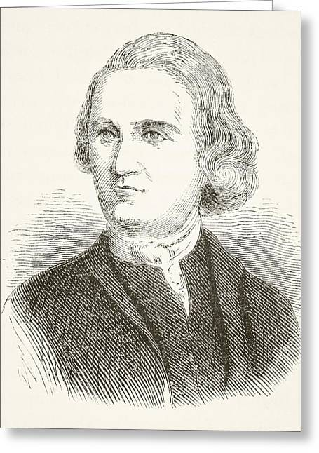 U S Founding Father Greeting Cards - Samuel Adams 1722 - 1803. American Greeting Card by Ken Welsh