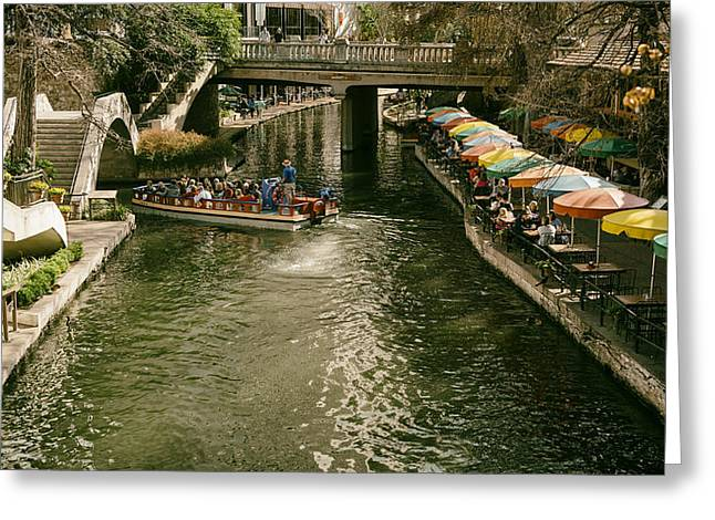Del Rio Texas Greeting Cards - San Antonios Famous River Walk Greeting Card by Mountain Dreams