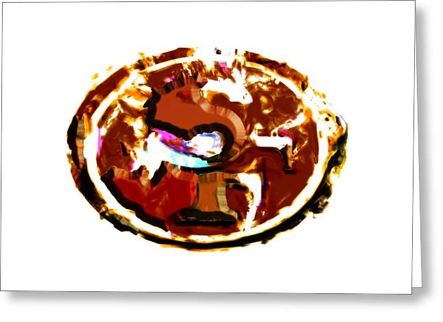 49ers Mixed Media Greeting Cards - San Francisco 49ers Greeting Card by Brian Reaves