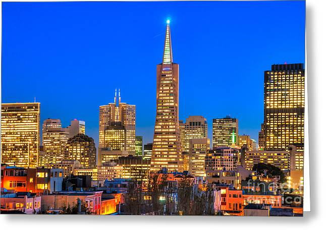 Office Space Greeting Cards - San Francisco - California - USA Greeting Card by Luciano Mortula