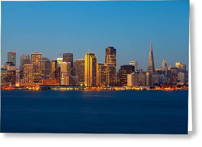 California Ocean Photography Greeting Cards - San Francisco Financial District, San Greeting Card by Panoramic Images