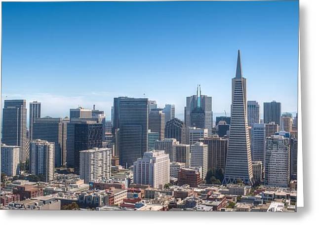 Bay Bridge Greeting Cards - San Francisco Skyline Greeting Card by Kristina Rinell