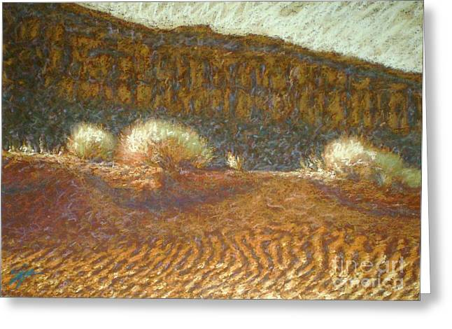 Sand Dunes Pastels Greeting Cards - Sand Ripples Greeting Card by Suzie Majikol-Maier