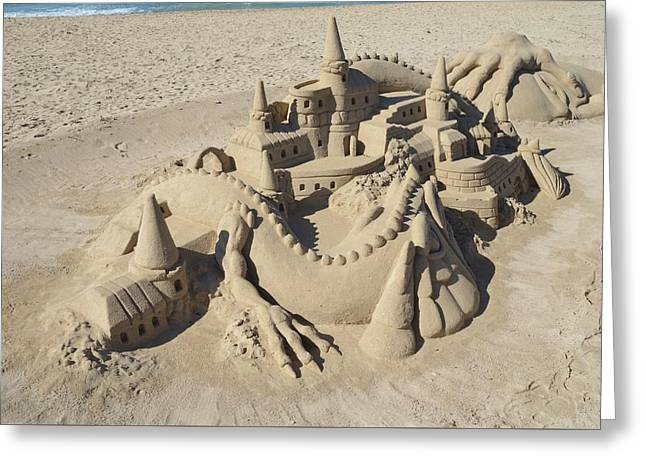 Tranquil Sculptures Greeting Cards - Sand sculpture Greeting Card by FL collection