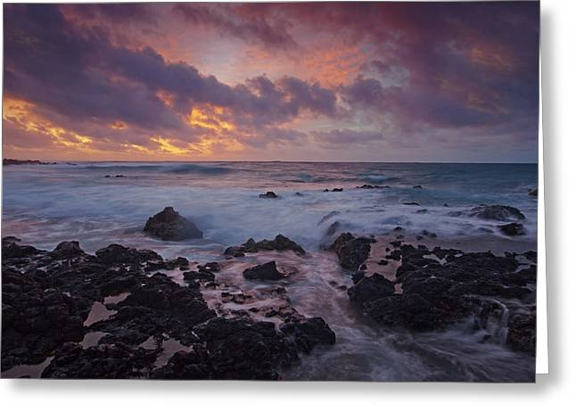 Sandy Beaches Greeting Cards - Sandy Beach Sunrise Greeting Card by James Roemmling