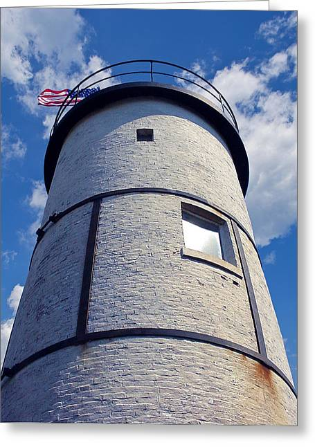 4th July Greeting Cards - Sandy Neck Lighthouse Greeting Card by Charles Harden