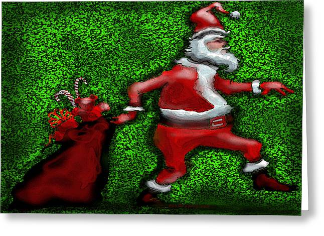 Holiday Greeting Cards - Santa Claus Greeting Card by Kevin Middleton