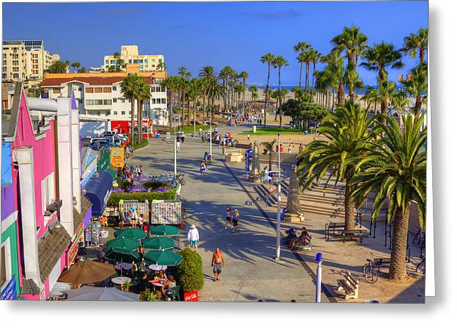 Pacific Ocean Prints Greeting Cards - Santa Monica Beach Greeting Card by Ricky Barnard