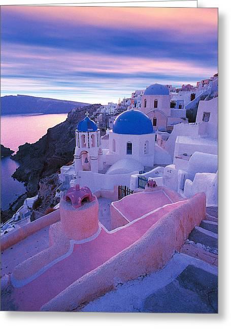 Thirasia Greeting Cards - Santorini - Greece Greeting Card by Manolis Tsantakis