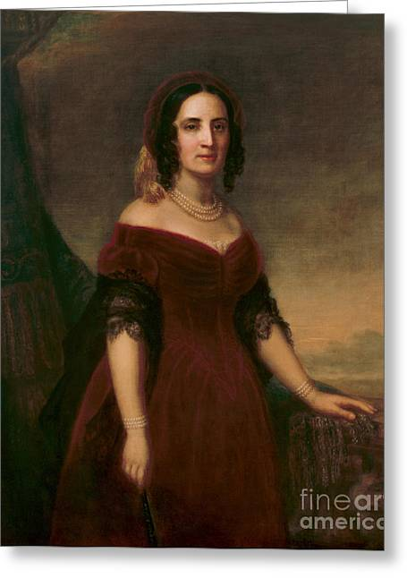 Sarah Polk, First Lady Greeting Card by Science Source