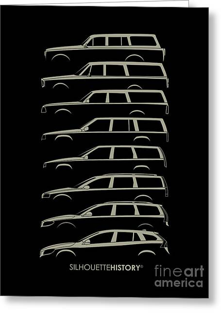 Scandinavian Wagon Silhouettehistory Greeting Card by Gabor Vida