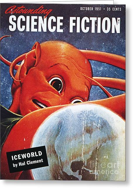 Astounding Science Fiction Greeting Cards - Science Fiction Magazine Greeting Card by Granger