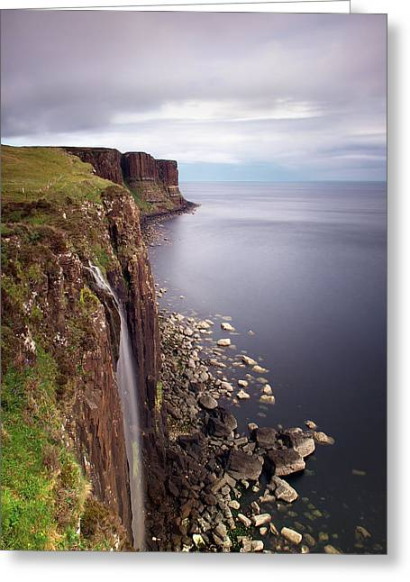 Isle Greeting Cards - Scotland Kilt Rock Greeting Card by Nina Papiorek