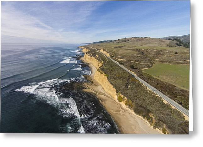 Santa Cruz Surfing Greeting Cards - Scott Creek Coastal Bluffs Greeting Card by David Levy