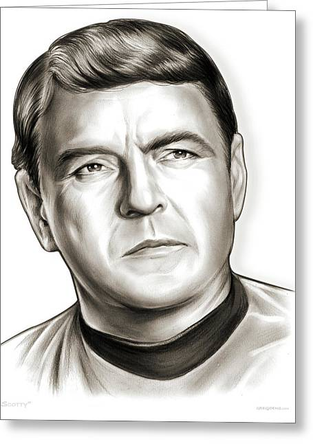 Scotty Greeting Card by Greg Joens
